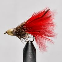 Conehead Muddler Red Marabou