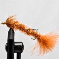 Bristle worm Brown size 8