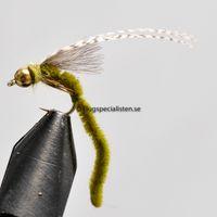 Synkende Vårflue Olivenfarvet str. 14