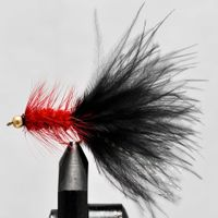 Ørredflue Sort-Rød str. 8