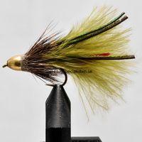 Conehead Muddler Olive Marabou size 8