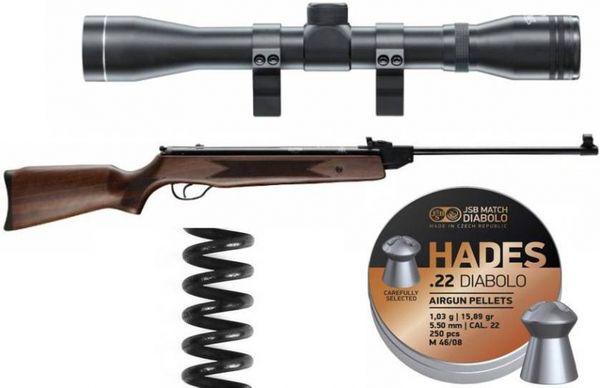 Hatsan Mod 60S 5,5MM luftgevärspaket för skyddsjakt