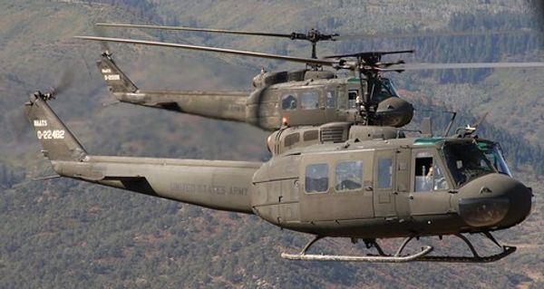 US army Bell UH-1 Huey legendarisk helikopter