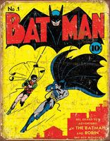 Batman & Robin vintage tennskylt