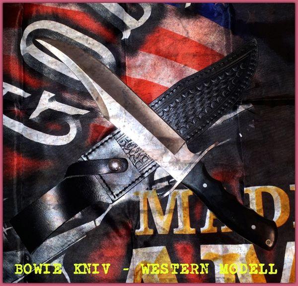 Bowie kniv i western modell
