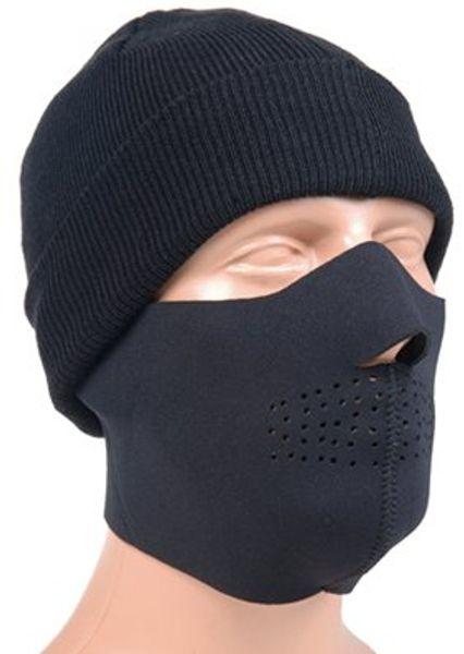 Neopren ansiktsmask i svart