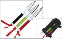 UZI - 3 set kastknivar med bärväska