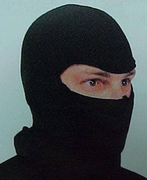 Svart skyddshuva (Balaclava) - endast ögonhål