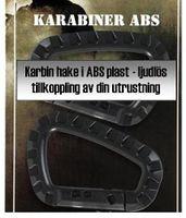 Svart karbinhake i ABS plast