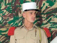 Fransk Främlings legionär hatt - vit färg