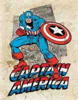 Captain America VINTAGE TENNSKYLT