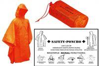 Överlevnadsponcho i orange färg