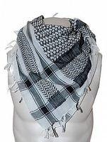 Palestina sjal svart och vitt