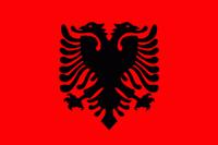 Albaniens flagga