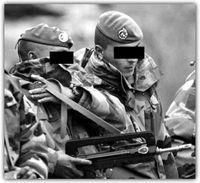 Fransk commando basker