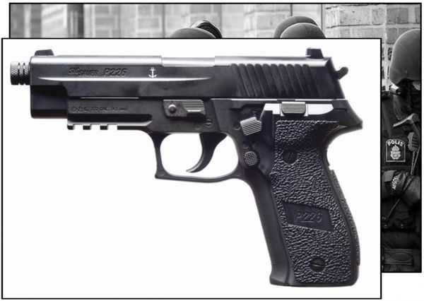 SIG SAUER P226 ASP 4,5mm kolsyrepistol med blowback