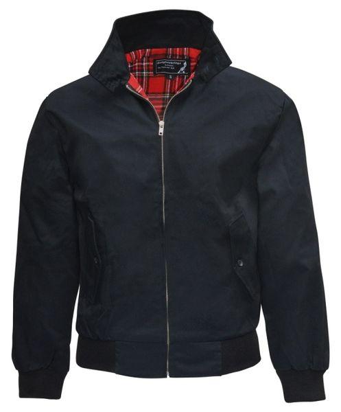Billig svart harrington jacka