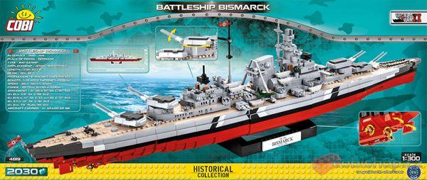 Slagskepp Bismarck byggmodell från Cobi Blocks