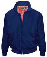 Marinblå harrington jacka