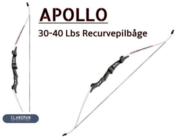 Apollo vit recurve pilbåge
