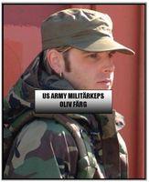 US Army oliv militärkeps