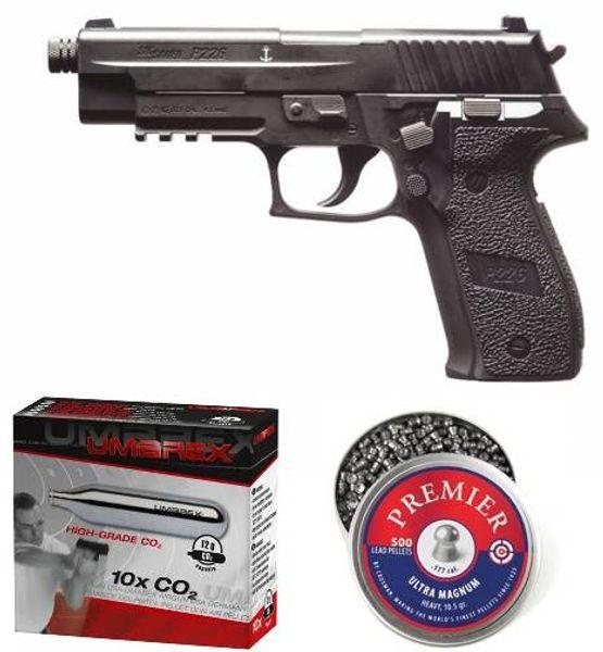Sig Sauer ASP P226 4,5mm kolsyrepistol kit