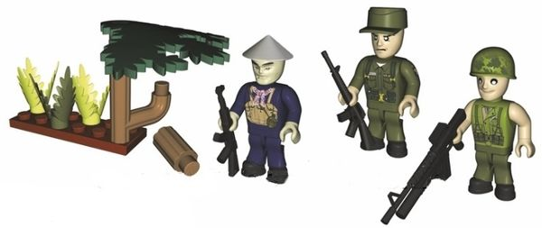 COBI Vietnam Soldater 3ST