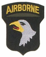 US Army märke av tyg -  US.101 LL Division Airborne