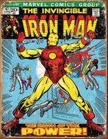 Iron-man Vintage tennskylt