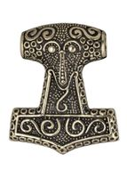 Thor's Hammare (Mjölnir) halssmycke från Skåne i äkta brons