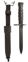 US Army M7 svart bajonett replika med M10 hölster