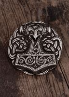 Bältesspänne Thor's Hammare Mjölnir i silver