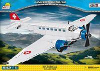 Junkers Ju52/3m tyskt WW2 flygplans byggsats i civila versionen