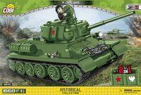 COBI-2542 T-34/85 Sovjetisk stridsvagn från WW2 med 668 byggblock