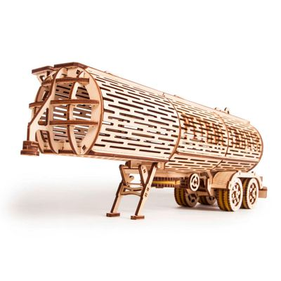 Wood Trick Wooden Model Kit - Tank Trailer - Tillbehör till Big Rig