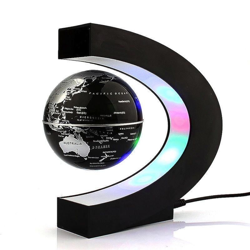 Svävande Jordglob med LED belysning