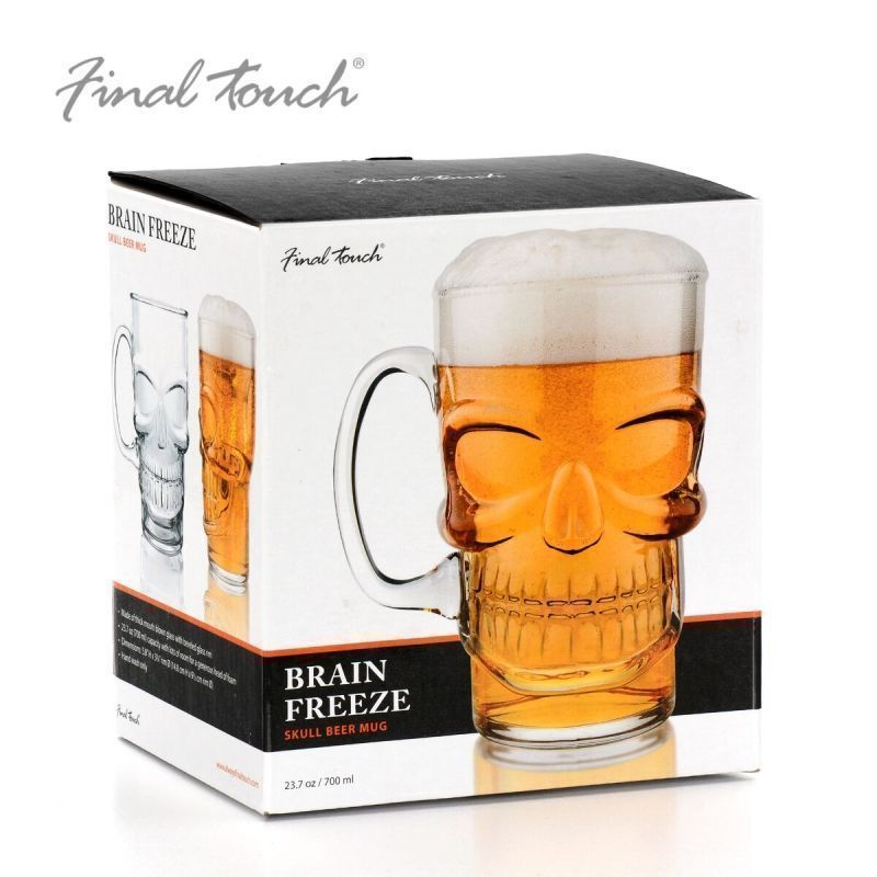 Final Touch Skull Beer Pint Glass