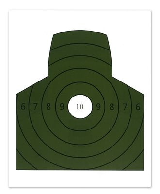 Måltavla 1/3 figur grön 10-ring, 10 st/pack