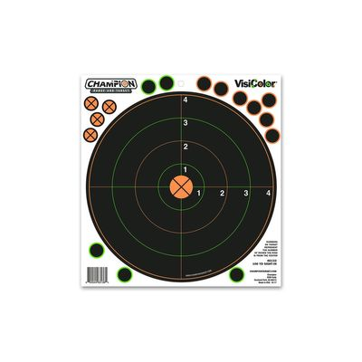 Champion 100 Yd Sight-In Tgt VisiColor 5Pk W/30 Rp