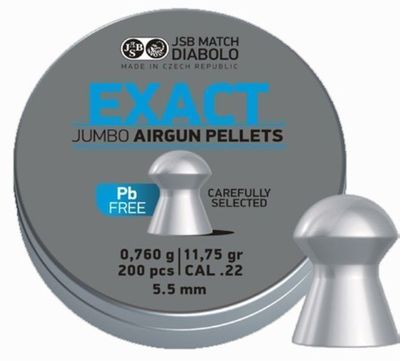 JSB Exact Jumbo lead free, 5,5mm - 0,760g