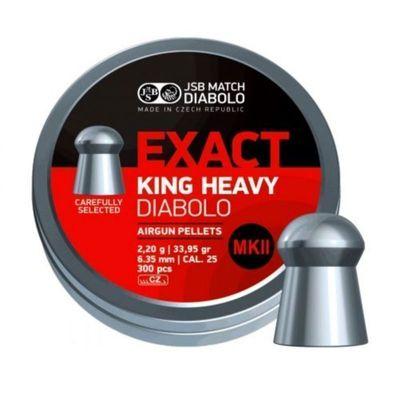 JSB Exact King Heavy MKII, 6,35mm - 2,200g - 150st
