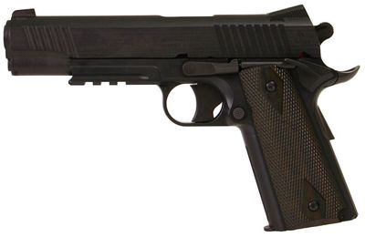 Colt 1911 Rail Black Mat, Metal Slide Co2 6mm