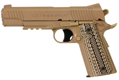 Colt 1911 Rail M45A1 Tan, Metal Slide Co2 6mm