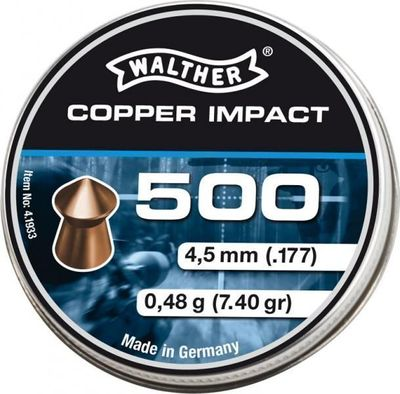 Walther Pointed Waisted 4,5mm, 500st