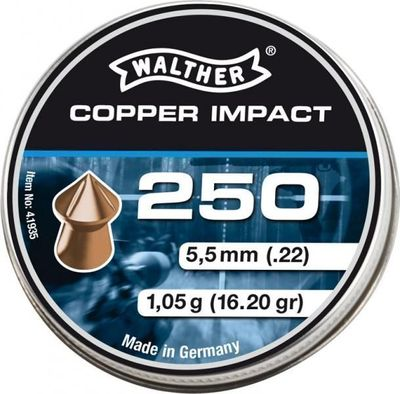 Walther Pointed Waisted 5,5mm, 250st