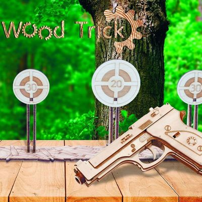 Wood Trick Wooden Model Kit - Gun