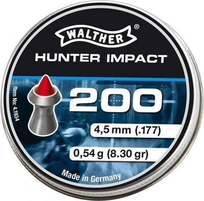 Walther Hunter Impact 4,5mm, 200st