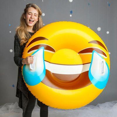 Emoji Uppblåsbar Pulka