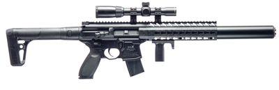 Sig Sauer MCX ASP 4,5mm med kikarsikte 1-4X24, Black