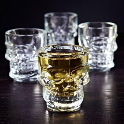 Dödskalle Shotglas 4-pack